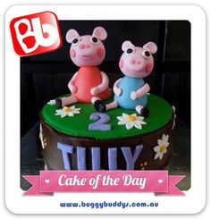 Peppa Pig Birthday Cake  For kids party ideas in Perth, WA see the Buggybuddys website. http://www.buggybuddys.com.au/kids_party_perth.html