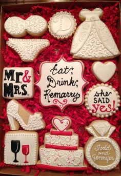 These cookies are sooooo cute and I think they would make great bridal shower or wedding favors - $30.00
