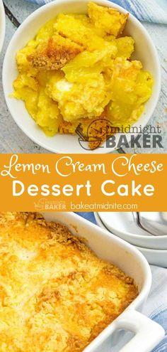 This dump cake is a lemon lover's dream #dessert #lemon #cake #easy #recipe