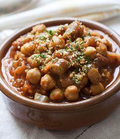 garbanzos_alga_cochayuyo Chilean Recipes, Chilean Food, Healthy Munchies, Sin Gluten, Chana Masala, Healthy Eating, Favorite Recipes, Healthy Recipes, Gastronomia