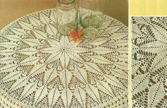 Making it : Crochet tablecloth Crochet Tablecloth Pattern, Crochet Doilies, Crochet Edgings, Thread Crochet, Love Crochet, Dining Room Table Runner, Table Centers, Home Made Soap, Projects To Try