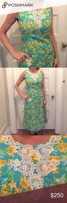 Vintage Lilly Pulitzer Dress Beautiful dress . Like new . Size 10 but probably fits 6/8 . Flawless mint condition Lilly Pulitzer Dresses