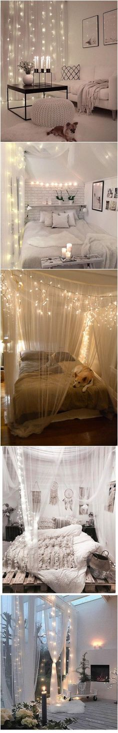 5 stunning DIY ideas of room interior design with LED lights and canopies.Which one do you prefer?
