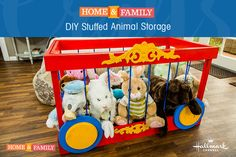 DIY Stuffed Animal Storage -  Keep all your furry friends organized in one place with @kennethwingard's stuffed animal crate! For more DIYs, tune in to Home and Family at 10/9c on Hallmark Channel!
