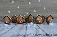 Kifli és levendula: Téli dióházikók Diy Christmas Village, Christmas Diy, Xmas, Process Art, Shell Crafts, Deco Table, Diy Projects To Try, Wallpaper, Upcycle
