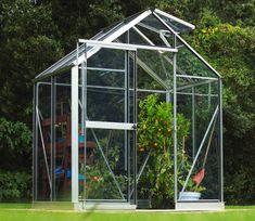 Evika Greenhouse 6 x 4 ft Aquarium Shop, Louvre Windows, Garden Site, Finish Strong, Roof Vents, Garden Fencing, Fruit And Veg, Grow Your Own, Back Gardens