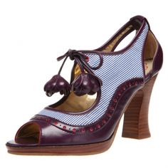 """""""Poetic License Girl About Town"""" by Irregular Choice. I can't tell if I love them or hate them! :("""