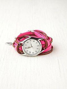 Free People Neon Watch Bracelet