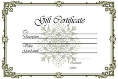 Gift Certificate Templates - free printable gift certificates for any occasion