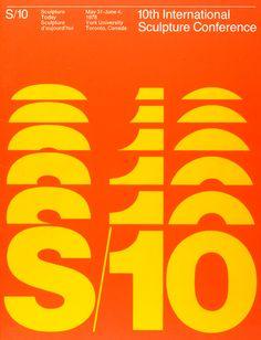 Burton Kramer, graphic design, poster, typography, orange