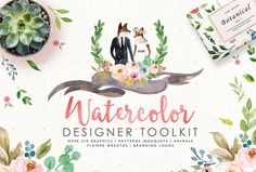 20%off-Watercolor Designer Toolkit by Graphic Box on @creativemarket