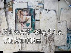 All about TEXTURE ♡ 20 ideas Mixed Media Art Tutorial ♡ Maremi's Small Art - YouTube