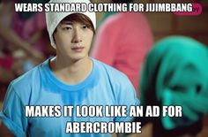 Jung Il Woo!   Fan thing;  you've never been to a  Jimjilbang  but you know how to fold all the towel turbans
