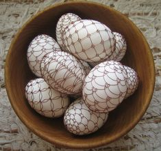 Czech Easter Eggs made with copper wire