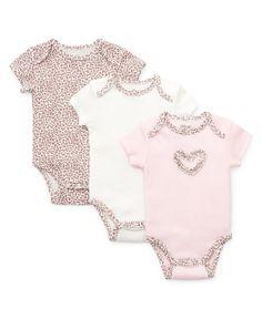 5a11cb7530 Little Me Boutique - Baby Leopard 3 Pack Bodysuits