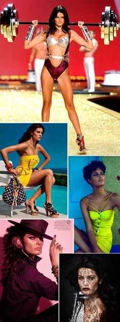 Isabeli Fontana modelo brasileira em editoriais campanhas e revistas