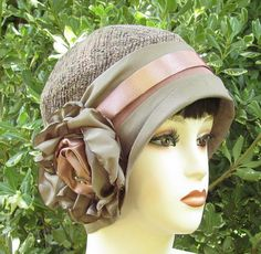 1920s Vintage Inspired Cloche Hat in Mauve  by Vintage Style Hats by Gail, via Flickr