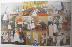 Evelyn Dunbar - St thomas's Hospital in Evacuation Quarters