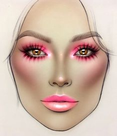 Trendy Makeup Face Charts Cheat Sheets Make Up <br> Makeup Inspo, Makeup Inspiration, Beauty Makeup, Eye Makeup, Drugstore Beauty, Lime Crime Makeup, Life Hacks Diy, Mac Face Charts, Makeup Illustration