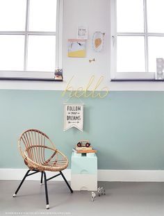 Relaxing Mint and White Kids' Room- Petit & Small