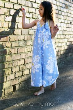 Bias Maxi Dress Tutorial // Sew Like My Mom