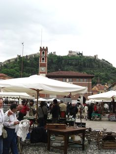 Antique market at Marostica, province of Vicenza, Veneto region - Italy