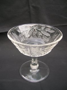 Clear Dish or  Compote Lily of the Valley by ellesh71 on Etsy, $13.00