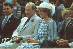 June 20, 1983:  Princess Diana with Canadian Prime Minister Pierre Trudeau in Ottawa, Canada.  Day 7