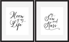 MOON of MY LIFE / My Sun and Stars by DomesticallyCurated on Etsy
