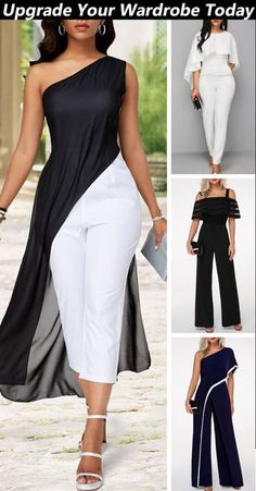 Shop the different styles in sizes for any body shape. Shop the different styles in sizes for any body shape. Shop the different styles in sizes for any body shape. Komplette Outfits, Classy Outfits, Casual Outfits, Fashion Wear, Women's Fashion Dresses, Womens Fashion, Looks Chic, Jumpsuits For Women, African Fashion
