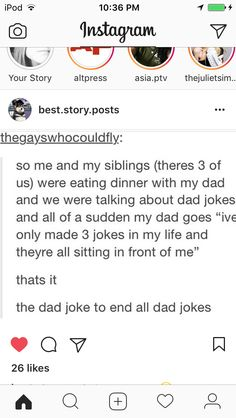 The dad joke to end all dad jokes.