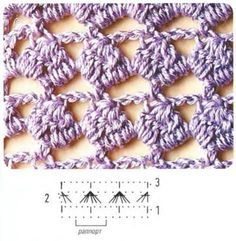 Crochet stitch pattern diagram