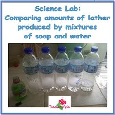 Science Experiment - Hard water vs Soft Water
