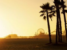 California offers some of the best in #sunset views, including those found at Santa Monica Beach.