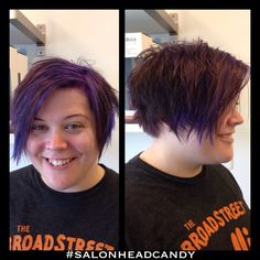 This super fun client said she wanted short, messy, purple hair & she got it! Straight razor cut & purple color by Robin! #salonheadcandy #purplehair #shorthair #shorthairdontcare #njhair #bumbleandbumble #badass #cherryhillnj #livethelifeyoulove #haircuts #happy #follow #southjersey #awesome #inspiration #instahair #hairofinstagram #funkyhair #work #brighthair #pixiecuts #punkhair #razorcuts #salonlife