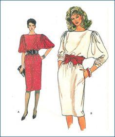 Vogue Sewing Pattern 8734 Misses Dress Uncut Size 8 10 12 $3.75