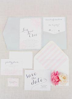 beautiful invitation suite #wedding #invites