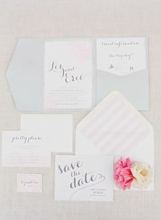 beautiful invitation suite #wedding #invites