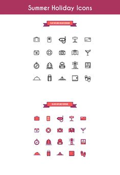 Summer Holidays Icon Set was coming from Perdana Kurniawan Arta. This pack comes with 20 icons in different formats with 2 versions, color and linear. Holiday Icon, Website Logo, Free Summer, Icon Set, Fonts, Commercial, Clip Art, Graphics, Messages