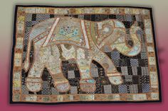 Beautiful handmade patchwork elephant. Exclusive piece, lovingly put together by two women over a period of 17 days in Jaipur, India