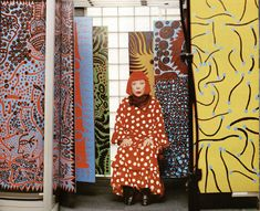 Yayoi Kusama in British Vogue, 2012.  Photo: Norbert Schoerner