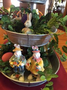 Easter with tiered trays