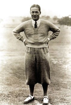 Bobby Jones: Played for the love of the game... GOLF OF COURSE. Played amateur his hole career. First to win the Grand Slam and key figure in developing the Augusta National Golf Course.