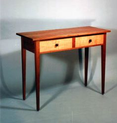 Cabinet is cherry with curly maple drawer fronts. Fine handmade wooden furniture by Joseph van Benten Furnituremakers in Brookline, Massachusetts. Furniture, Woodworking Inspiration, Shaker Furniture, Shaker Style Furniture, Fine Furniture, Cool Furniture, Woodworking Furniture, Wood Furniture, Fine Woodworking Furniture