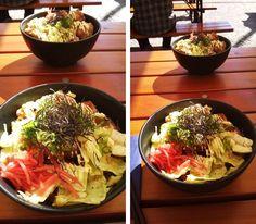 @Hashi, Rosenthaler str. // Chicken deep fried teriyaki on a bed of veggie and rice