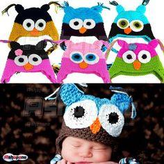 Fashion Cute Baby Boy Girl Toddler Owls Knit Crochet Hat Beanie Cap | eBay