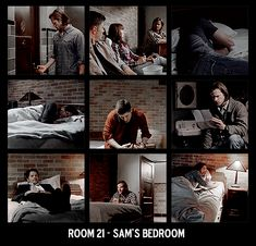 Read ~ room 21 - sam's bedroom 📖 from the story supernatural Supernatural Pictures, Supernatural Memes, Winchester Brothers, Sam Winchester, Smallville, Bunker, Superwholock, Best Shows Ever, Best Tv