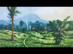 Watercolor painting demonstration of a Tribal Village Persian Blue, Speed Paint, Step By Step Painting, Pastel Drawing, Charcoal Drawing, Medium Art, Watercolour Painting, Pastel Colors, Landscape