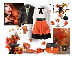 """autumn leaves"" by lumi-21 ❤ liked on Polyvore featuring Dsquared2, Alexander McQueen, Silvian Heach, Narciso Rodriguez, Wallis, TW Steel, Chloé, Nuevo, Valentino and GAB"
