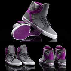http://instagram.com/suprafootwear    For the SUPRA Women's Spring 13 collection, the iconic Skytop has been outfitted with bold colors and materials for three new styles. Seen here in Grey and Dark Grey Nubuck with Purple Suede. See them all at suprafootwear.com.